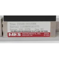 MKS Mass Flow Controller with Shut-off Valve N2, 100 SCCM, 2159B-00100RK