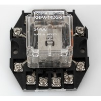Potter & Brumfield KRPA-14DG-24 Relay + SPC Socket Base - 24VDC 10A