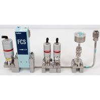 Fujikin FCS-4WS-F1600 Mass Flow Controller w/ Valves .39~59 MPa N.C. Ar Gas