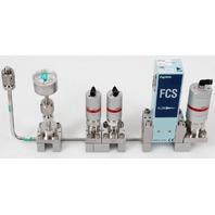 Fujikin FCS-4WS-F450 Mass Flow Controller w/ Valves .39~59 MPa N.C. CF4 Gas