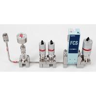 Fujikin FCS-4WS-F500 Mass Flow Controller w/ Valves .39~59 MPa N.C. CO Gas