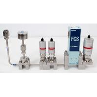 Fujikin FCS-4WS-F500 Mass Flow Controller w/ Valves .39~59 MPa N.C. N2 Gas