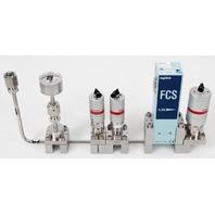 Fujikin FCS-4WS-F100 Mass Flow Controller w/ Valves .39~59 MPa N.C. NF3 Gas