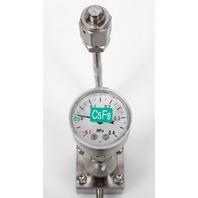 Fujikin FCS-4WS-F115A Mass Flow Controller w/ Valves .39~59 MPa N.C. C5F8 Gas