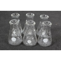 Lot of 6 Corning Pyrex Erlenmeyer Flask 25 mL 4980-25