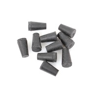 Lot of 10 VWR Rubber Stopper, Size 000, Solid 59580-047