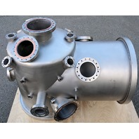 MDC Varian Stainless Steel High Vacuum Chamber ISO400 Elbow / Multi-CF Manifold