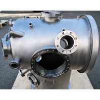 MDC Varian Stainless Steel High Vacuum Chamber ISO500 Elbow / Multi-CF Manifold