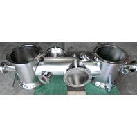 MDC Varian Stainless Steel High Vacuum Cross/Chamber CF250 Port Manifold