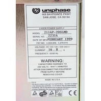 JDS Uniphase 2211-65MLQYV Multiline Ar Laser w/ 2114P-20SLMD Power Supply