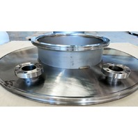 MDC Varian SS304 High Vacuum Flange Adapter ISO500 to ISO250, 2x DN40 + Clamps