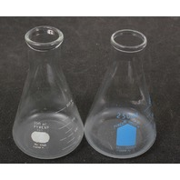 Lot of 2 Pyrex Graduated Erlenmeyer Flask 250 mL
