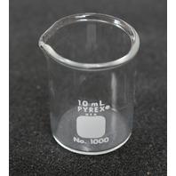 Lot of 5 Corning PYREX Griffin Low Form 10mL Beaker 1000-10