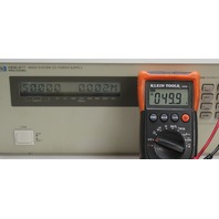 HP Agilent 6626A DC Power Supply, Precision Dual-Output, 2 at 7V/0.015A, 2 at 16V/0.2A, GPIB