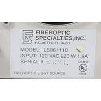 Fiberoptic Specialists LS86/110  220W Fiberoptic Light Source with Dual Goosenecks