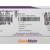"GeneMate Blue Lite Autoradiography Film 8x10"" 100 Sheets F-9024-8X10"