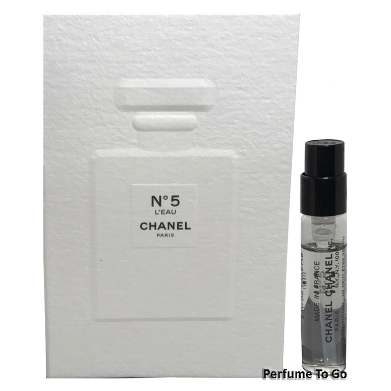 CHANEL No 5 L'eau for Women * NEW Fragrance EDT Travel Vial Spray ...
