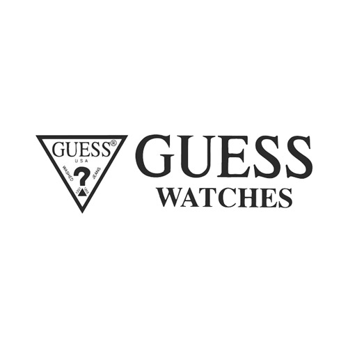 new guess watch for men crystal covered silver tone