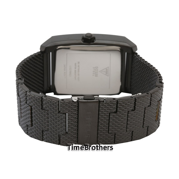 new guess watch for men black ion plated mesh bracelet diamond guess watch for men u0298g1