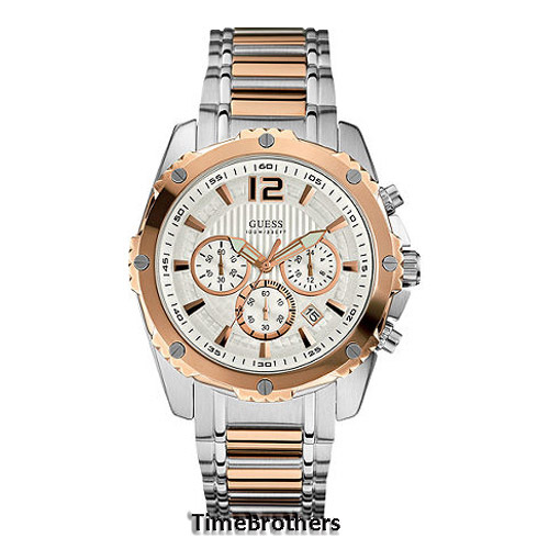 new guess watch for men chronograph rose gold top ring date guess watch for men u0165g2