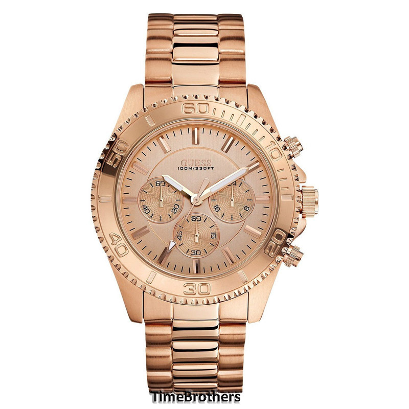 NEW GUESS WATCH for Men Chronograph Sporty All Rose Gold ...