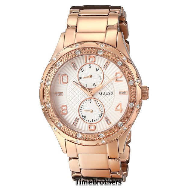 NEW GUESS WATCH Women * Rose Gold Tone * Day/Date Sub ...