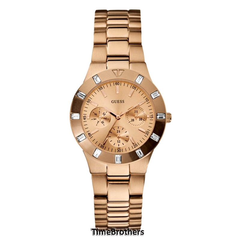 new guess for multi function gold tone