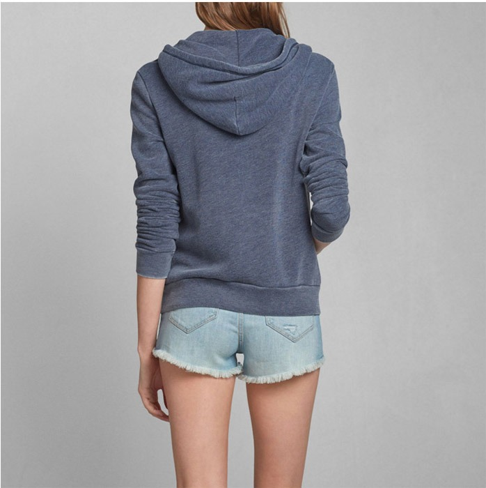 ABERCROMBIE & FITCH * A&F MARYBETH EASY FIT HOODIE JACKET