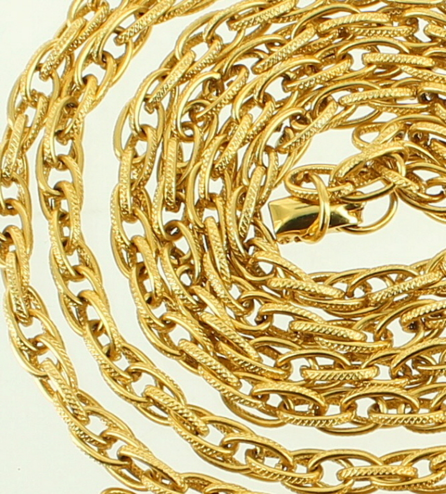 Vintage Vendome Ornate Link Chain Necklace Stunning Gold