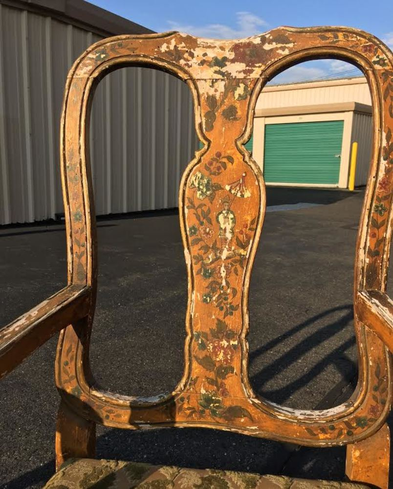 Antique italian chairs -  Antique Pair Venetian Paint Decorated Arm Chairs Best Design Chinoiserie Italian