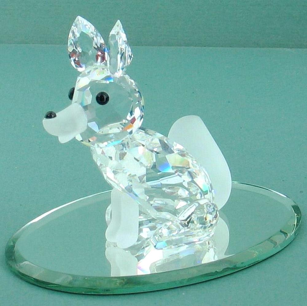 Vintage Swarovski Silver Crystal Fox Figurine 7629 Nr30