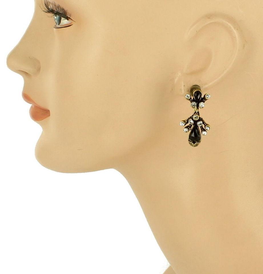 vintage florenza drop dangle screw back earrings faux. Black Bedroom Furniture Sets. Home Design Ideas