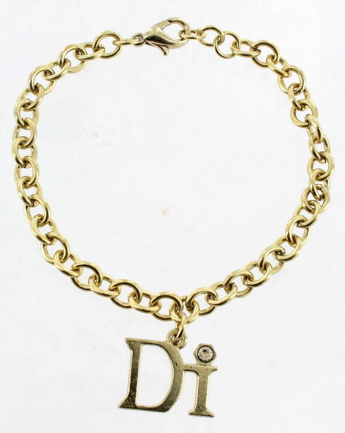vintage diamond international gold tone link diamond charm