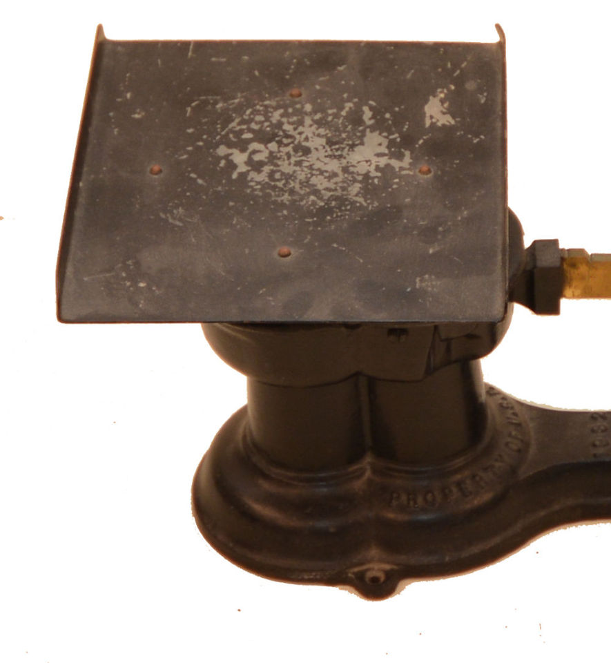 Antique deco 1932 cast iron brass howe industrial postal scale ebay - Deco vintage industriel ...