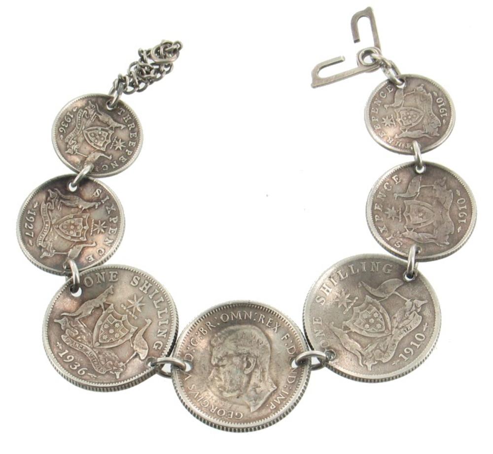 Antique Gold Coin Bracelet Bitcoin On Binance Office