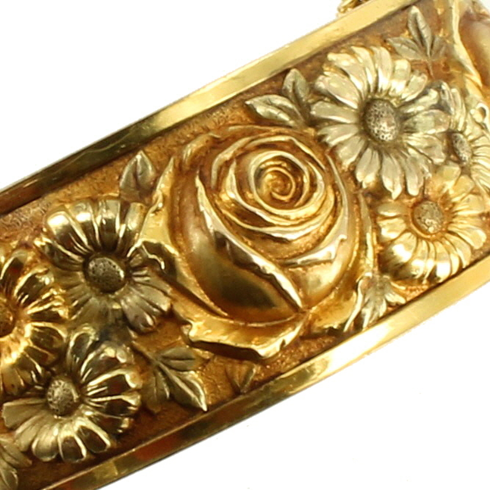 Antique deco rose yellow green gf gold filled flower for Deco maison rose gold