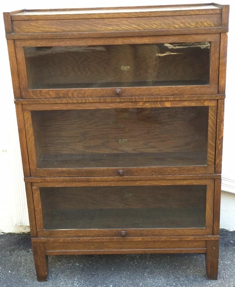 Antique Hale S Herkimer Oak Barrister Bookcase Mission