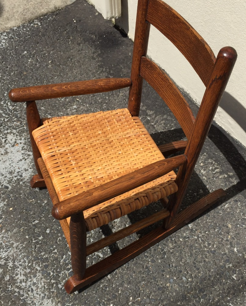 Victorian rocking chair - Antique Victorian Solid Oak Child Porch Doll Rocking Chair Rocker Restored Nice