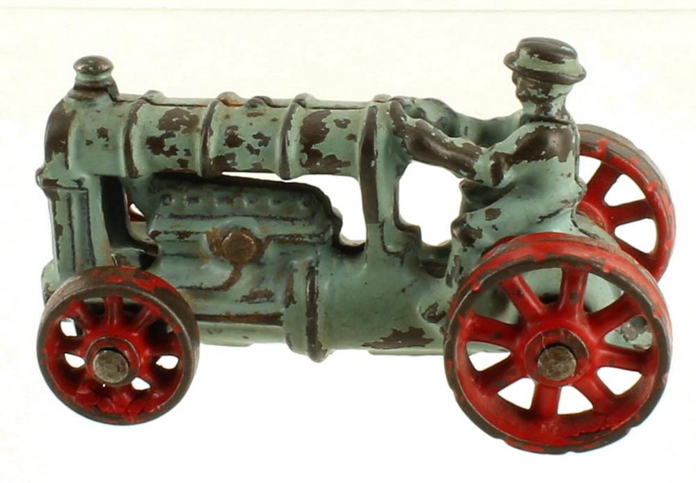 Iron Antique Tractors : Antique s arcade cast iron toy tractor original paint