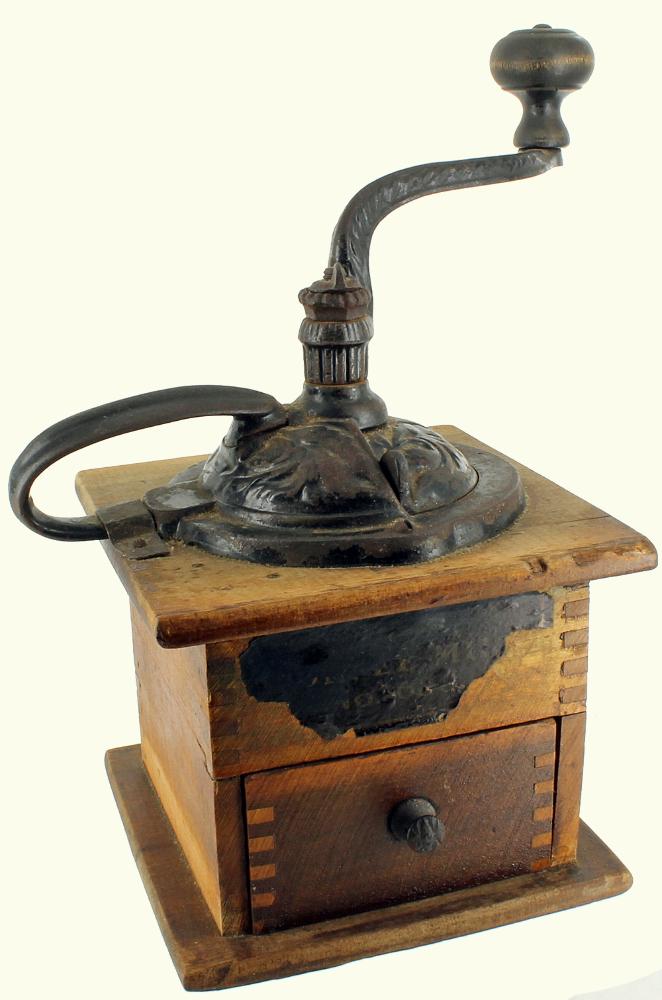 Antique Metal Coffee Grinder  |Coffee Grinders Antique Label