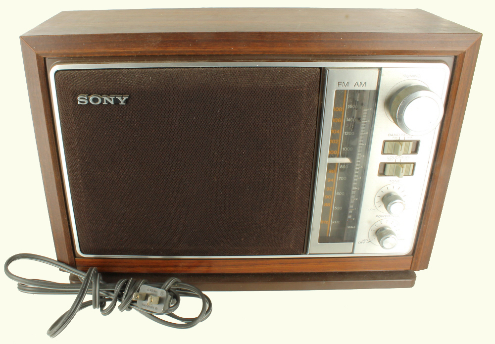 vintage sony am fm table top radio faux wood model icf 9740w trusted seller ebay. Black Bedroom Furniture Sets. Home Design Ideas