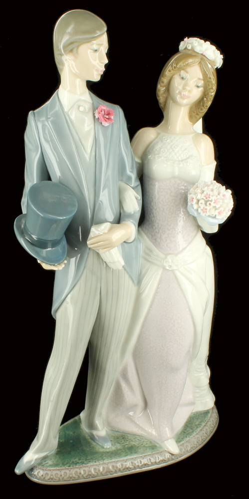 Vintage Lladro Boda Arrogante Wedding Porcelain Figurine Retired 1404 EBay