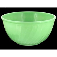 "VINTAGE FIRE KING JADITE GREEN OVEN WARE SWIRL PATTERN 9"" MIXING  BOWL"