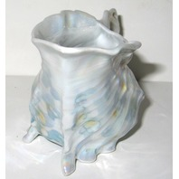 ANTIQUE ROYAL BAYREUTH LUSTER WARE SEA  SHELL FOOTED CREAMER PITCHER