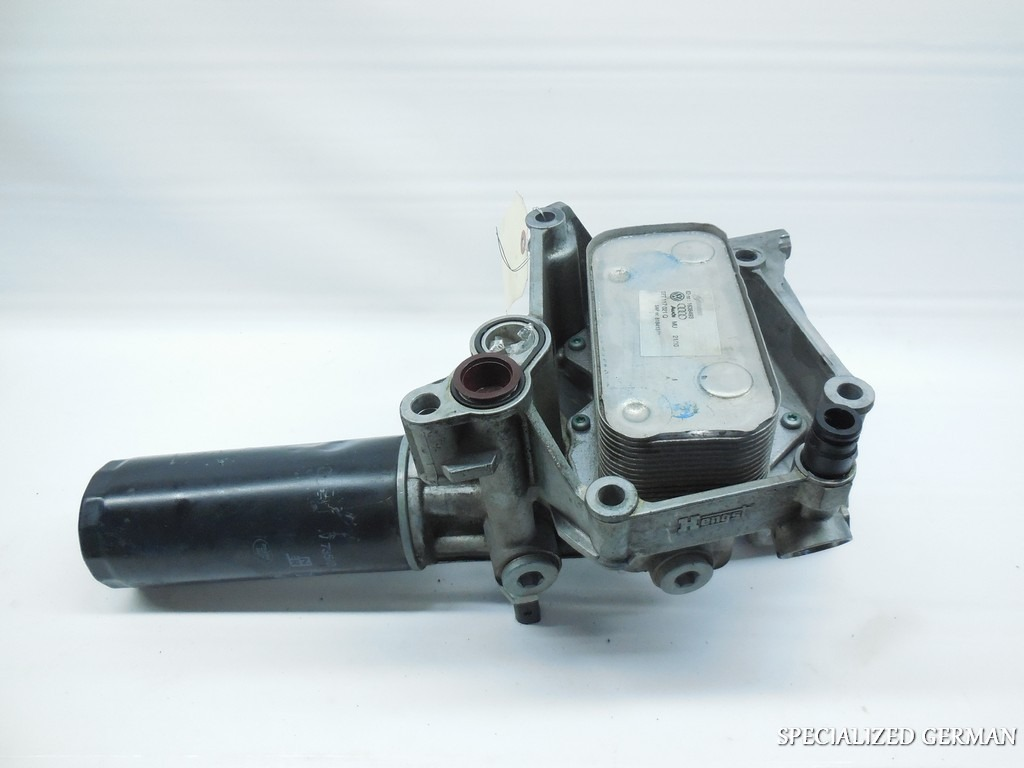 audi a6 a8 engine oil cooler filter housing bracket On audi a6 motor oil