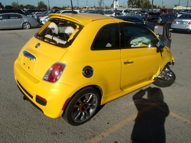 2015 fiat 500 sport 1 4 5 speed yellow damaged all over. Black Bedroom Furniture Sets. Home Design Ideas