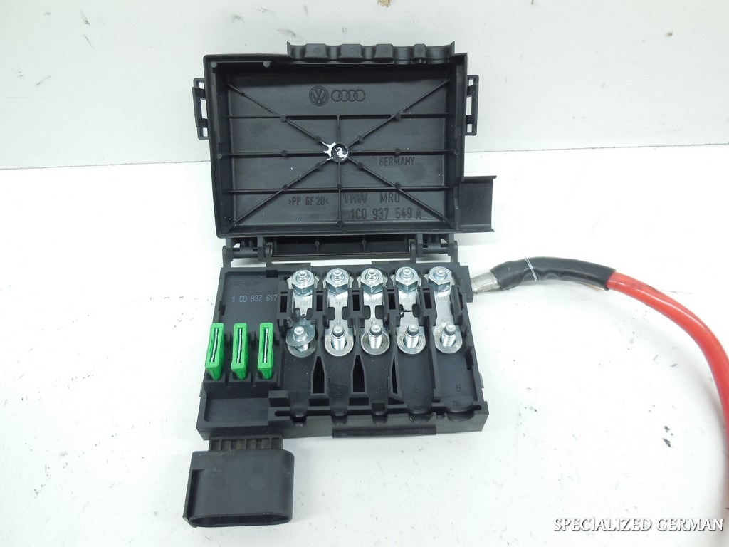 99 05 volkswagen jetta golf beetle underhood battery mounted fuse box ebay