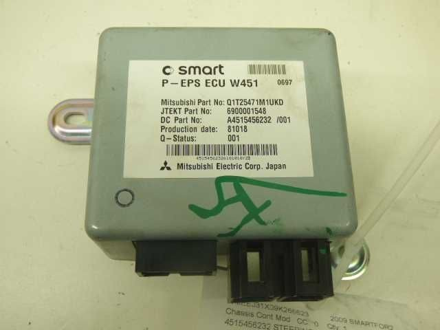 2008 2009 2010 2011 2012 2013 2014 2015 Smart Fortwo Steering Module Computer