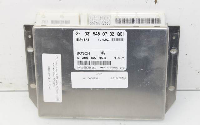 2001 2002 Mercedes Benz CLK320 CLK430 W208 ABS Control Module 0315450732