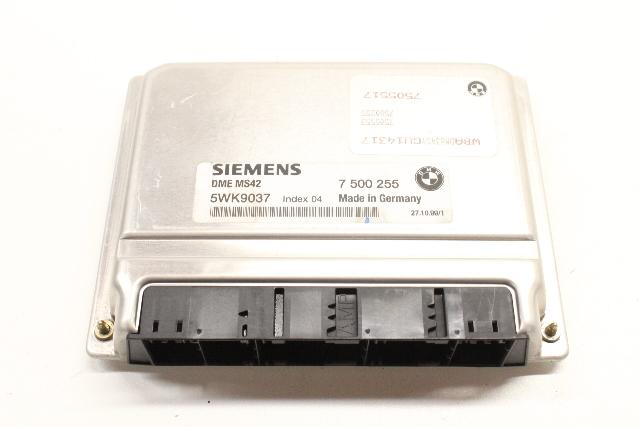1999 2000 BMW 528i ECU ECM DME Engine Control Unit Module 12147505517